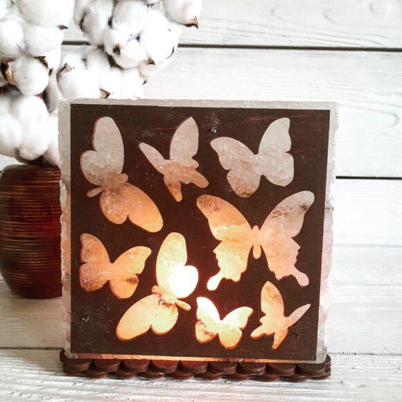 """Соляний світильник """"Метелики"""" 3-4кг"""