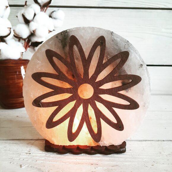 """Соляна лампа """"Квітка"""" 3-4кг"""