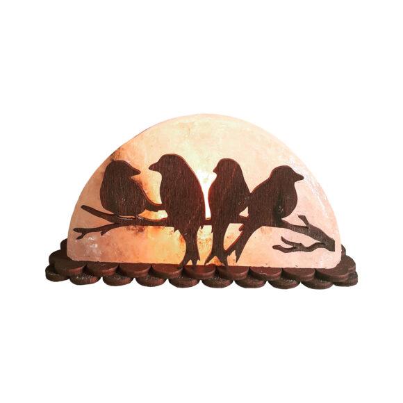 """Соляна лампа """"Птахи на гілці"""" 1,5кг"""