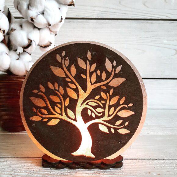"""Соляна лампа """"Дерево № 2"""" 3-4кг"""
