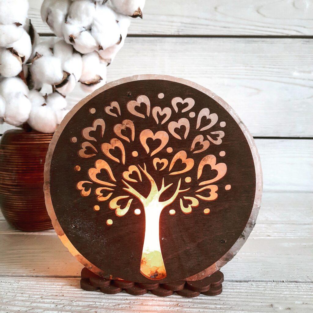 """Соляна лампа """"Дерево № 1"""" 3-4кг"""