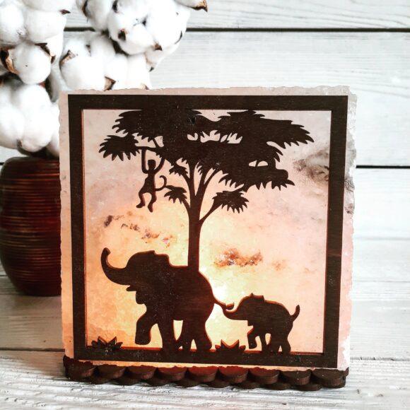 """Соляний світильник """"Африка"""" 3-4кг"""